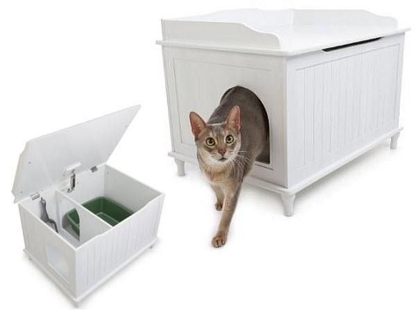 Litter box bench