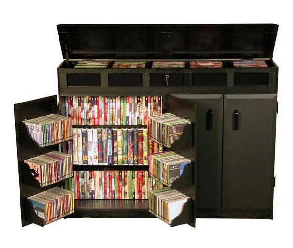 black cd storage cabinet - 2