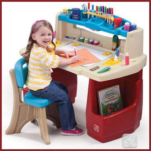 Arts and crafts table for kids