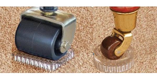 Carpet caster cups
