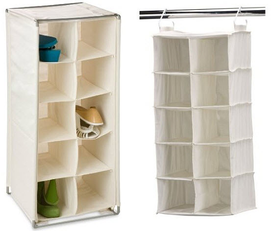 Fabric shoe cubby organizer