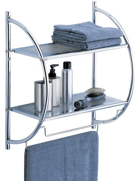 Wall mounted towel shelves
