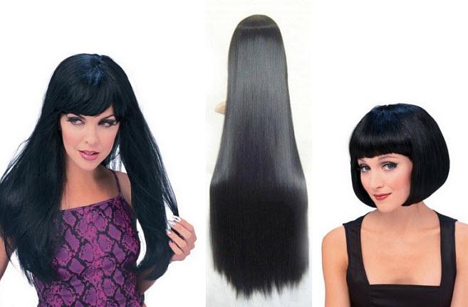Black costume wig