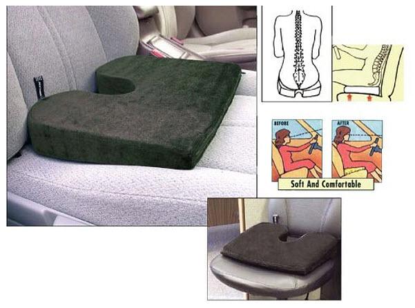 Car seat wedge cushion