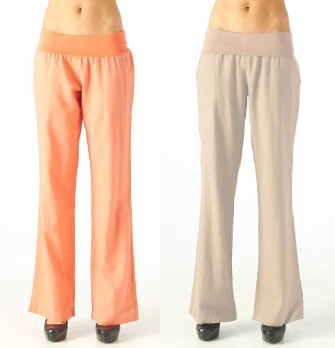 Casual linen pants for women