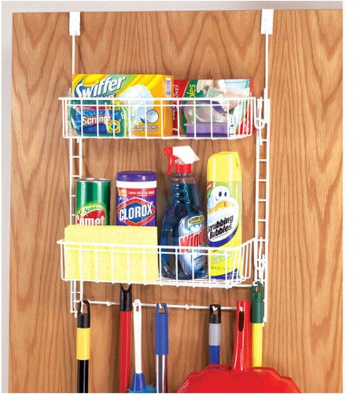 Cleaning supplies organizer