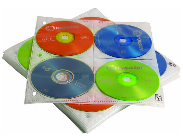 DVD binder sleeves