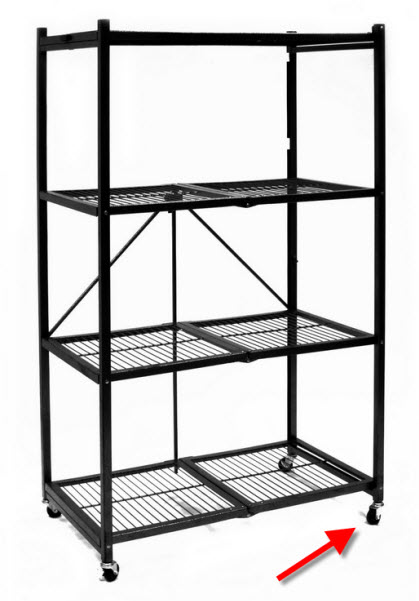 Portable shelving unit with wheels