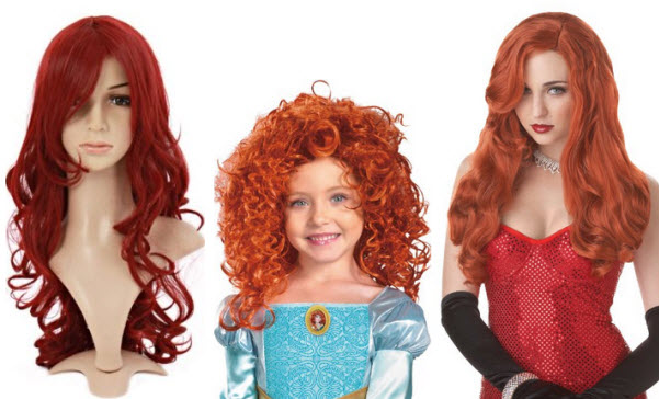 Red costume wig