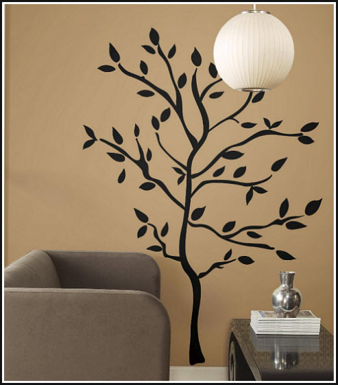 Removable tree wall decals