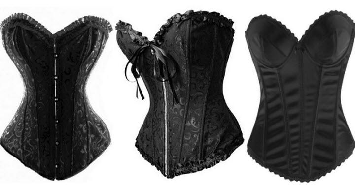 Black bridal corset