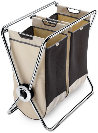 Chrome laundry sorter