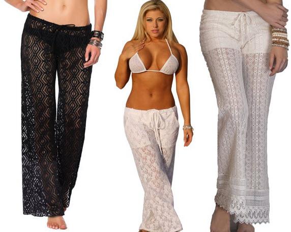 Crochet beach pants