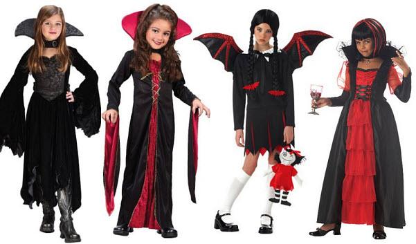 Girls vampire halloween costumes