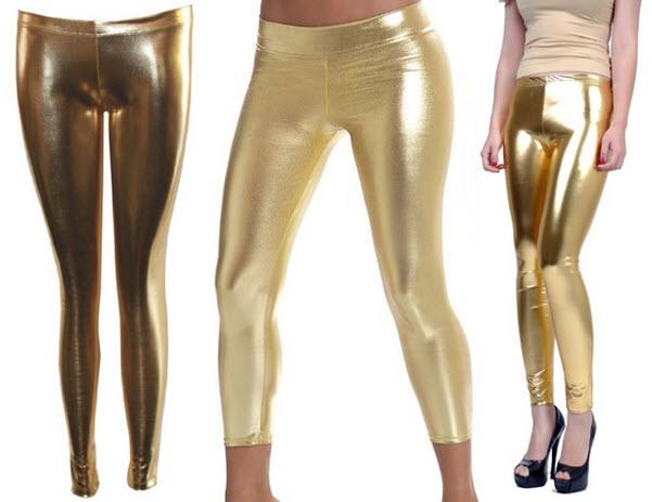 Gold lamé pants