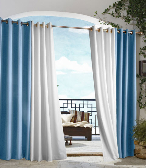 Outdoor privacy curtains