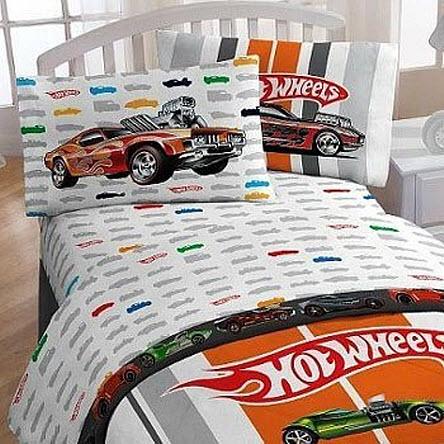 Race car bedding for kids