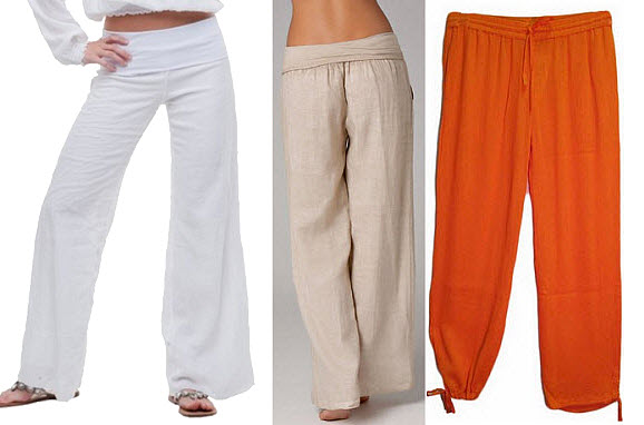 Womens gauze pants - 2