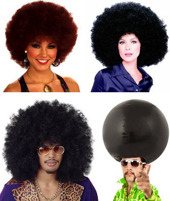 Afro costume wig