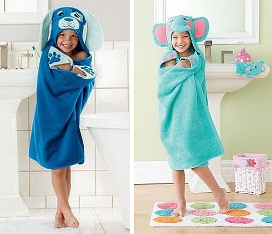 Animal hooded bath towels