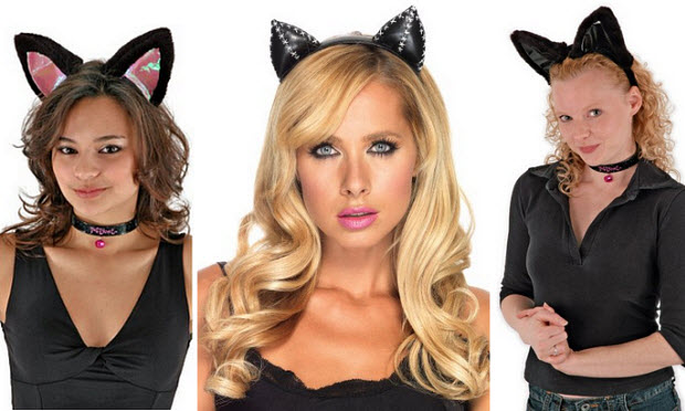 Cat ears for Halloween costume