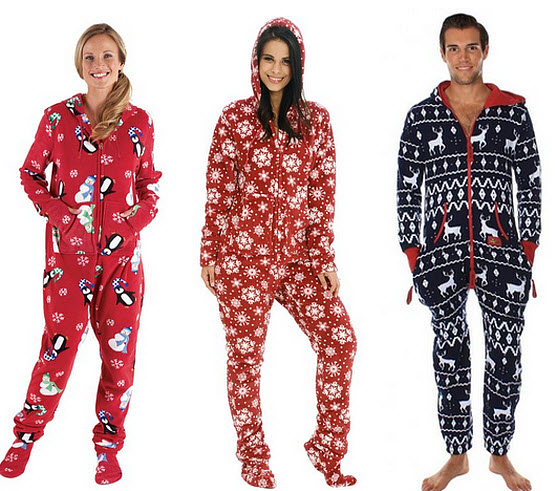 Christmas footie pajamas for adults - b