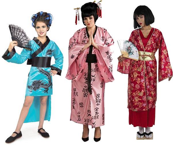 Japanese kimono Halloween costumes
