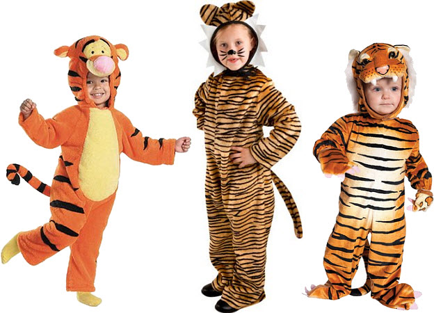 Kids tiger Halloween costume - b