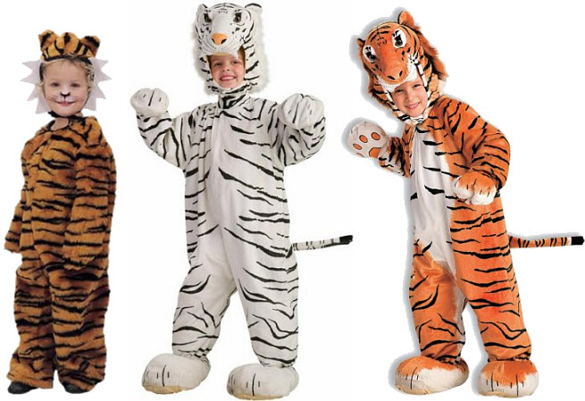 Kids tiger Halloween costume