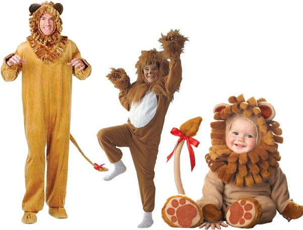 Lion Halloween costume for babies, kids and adults