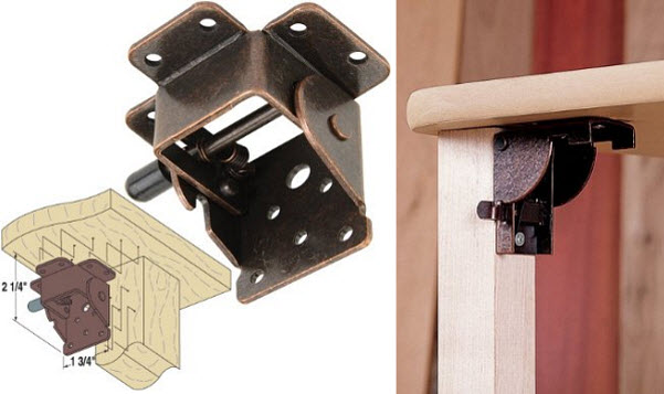 Locking table hinges - 2