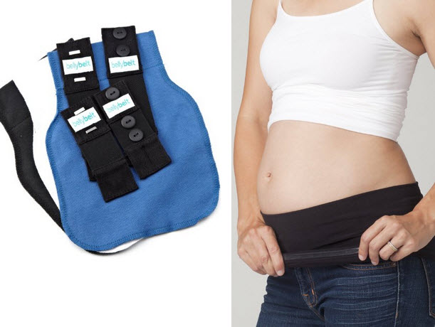 Maternity support belly band for pants