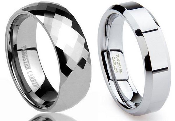 Mens tungsten carbide wedding band