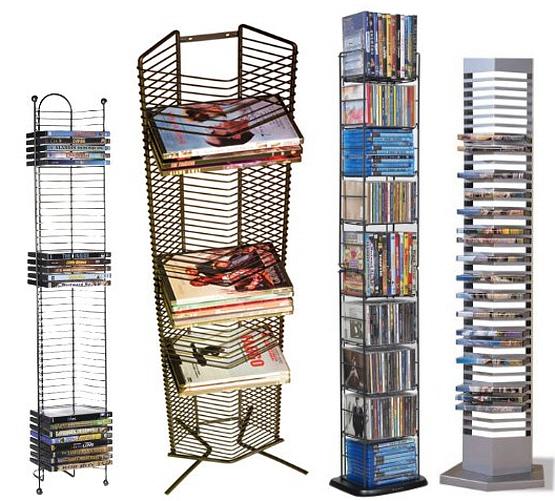 Metal DVD storage tower