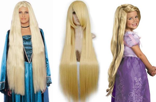 Rapunzel long blonde costume wig