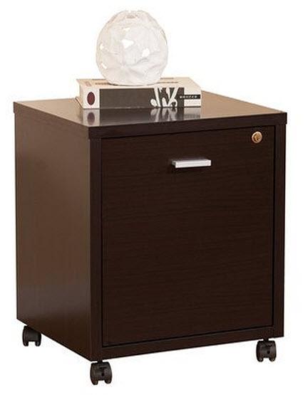 Rolling single drawer file cabinet - b