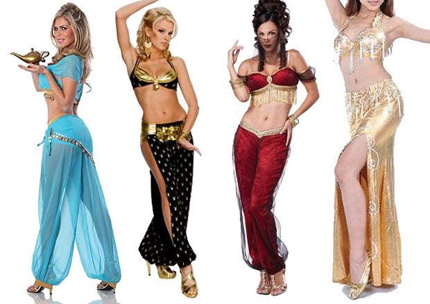 Sexy belly dancer costumes - 2
