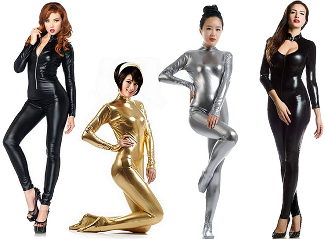 Shiny catsuit for costume - bb