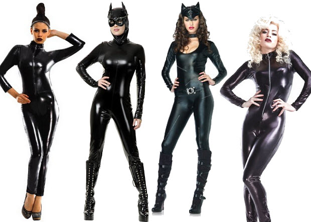 Shiny catsuit for costume