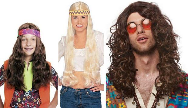 60's Hippie costume wig