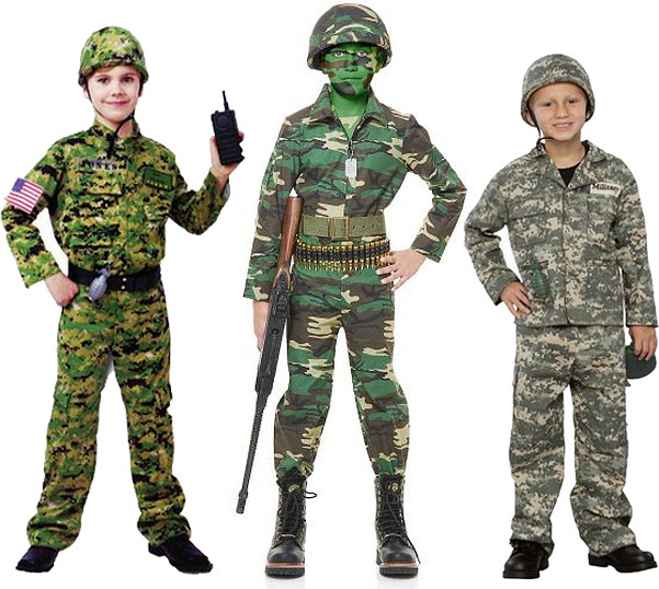 Army soldier Halloween costumes for kids