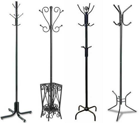 Black metal coat rack