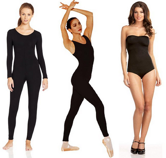 Black unitard for women