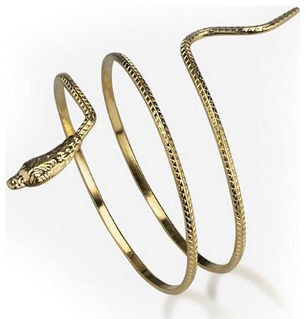 Egyptian costume snake bracelet