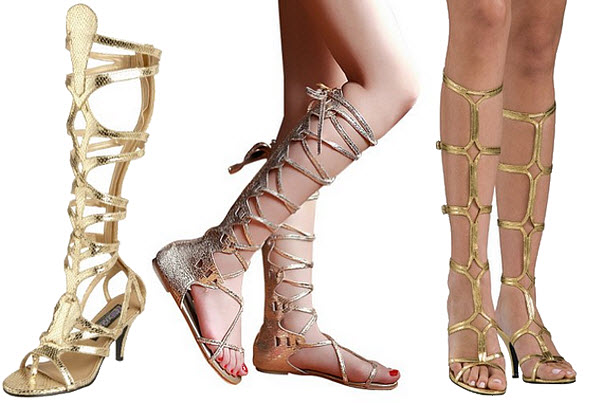 Greek goddess costume sandals