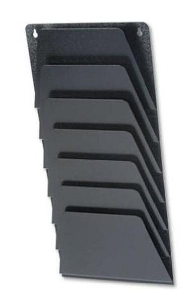 Metal wall file rack - b