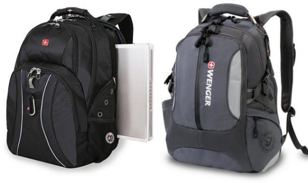 Padded laptop backpack