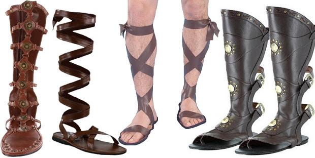 Roman gladiator costume sandals for men
