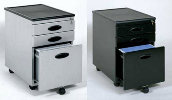 Small filing cabinet on wheels