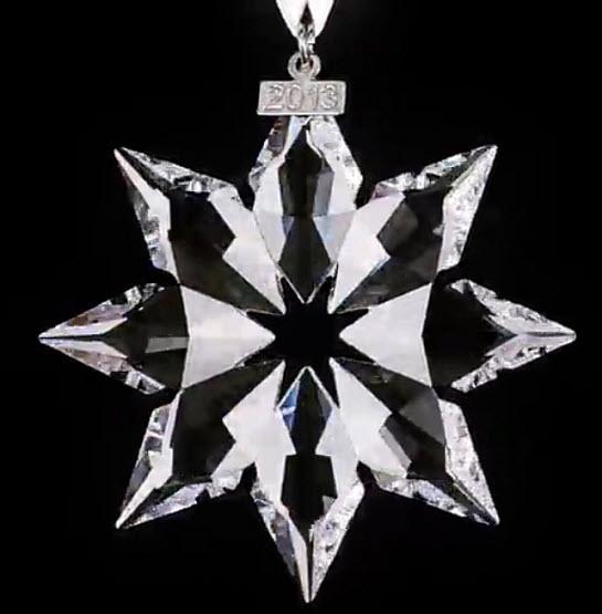 Crystal star tree ornament